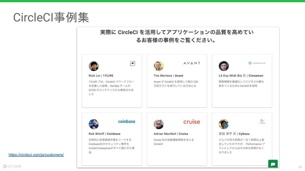 23 CircleCI事例集 https://circleci.com/ja/customer...