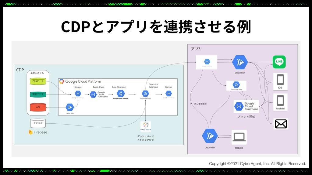 CDPとアプリを連携させる例