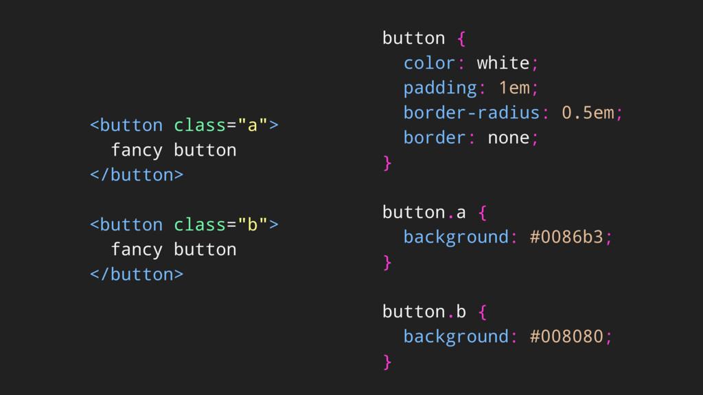 """<button class=""""a""""> fancy button </button> <butt..."""