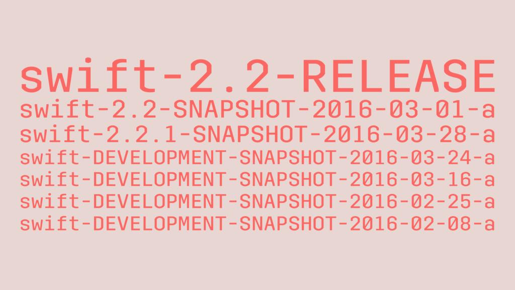 swift-2.2-RELEASE swift-2.2-SNAPSHOT-2016-03-01...