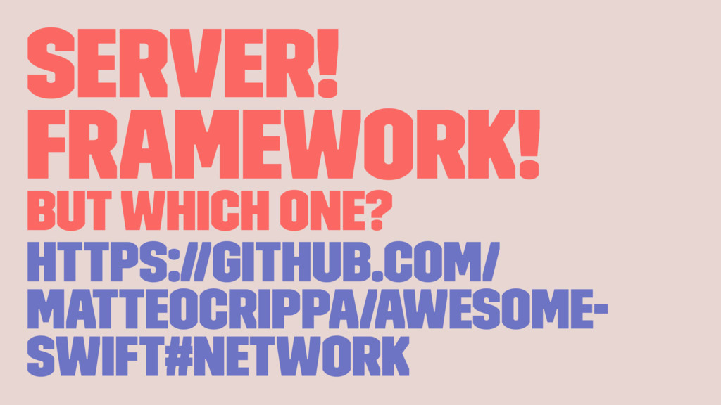 server! framework! but which one? https://githu...