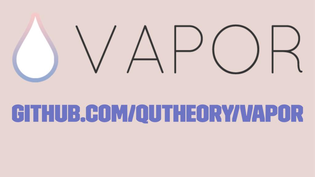 github.com/qutheory/vapor