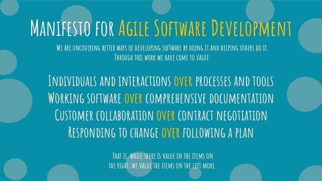Manifesto for Agile Software Development Indivi...