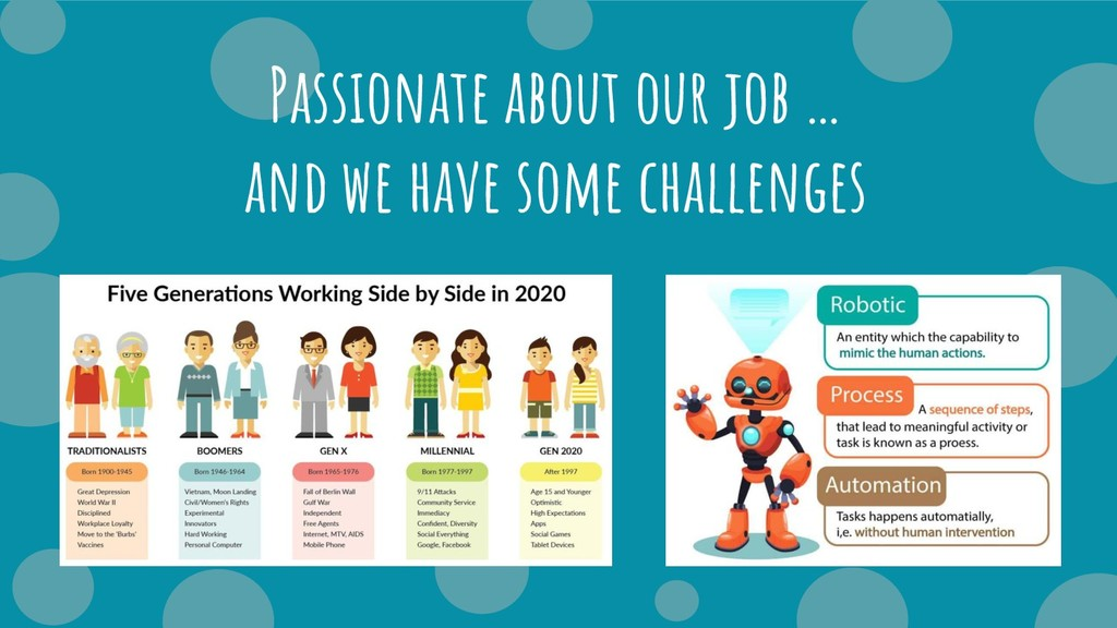 Passionate about our job … and we have some cha...