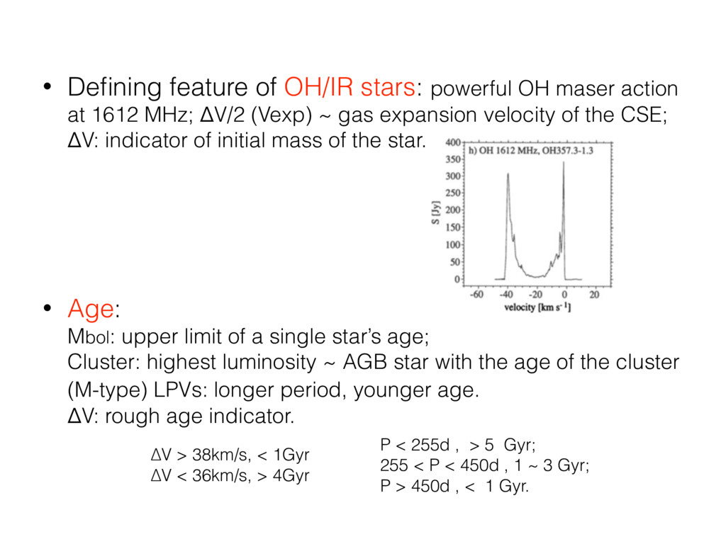 • Defining feature of OH/IR stars: powerful OH m...