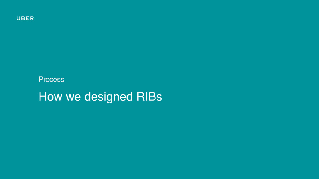 How we designed RIBs Process