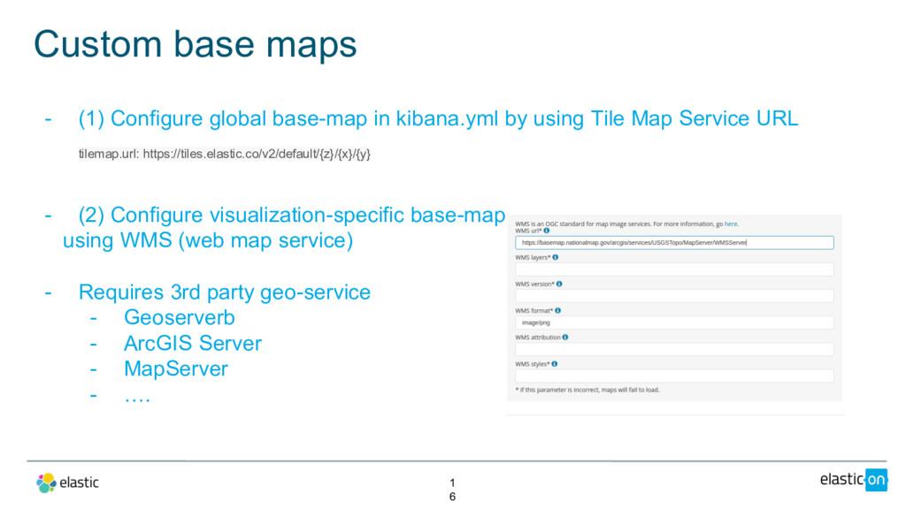 Custom base maps 1 6 - (1) Configure global bas...
