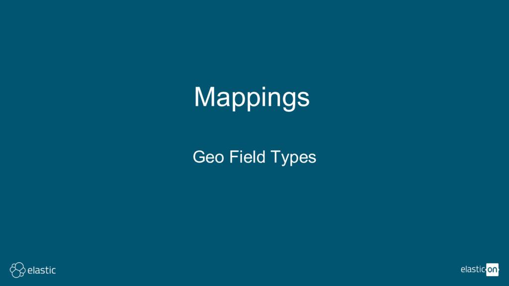 Mappings Geo Field Types