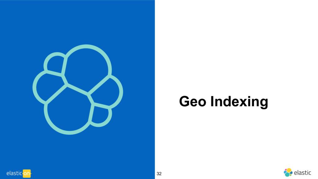‹#› Geo Indexing 32