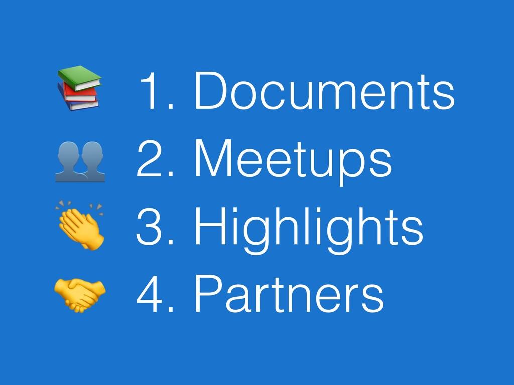 1. Documents  2. Meetups  3. Highlights  4. Pa...