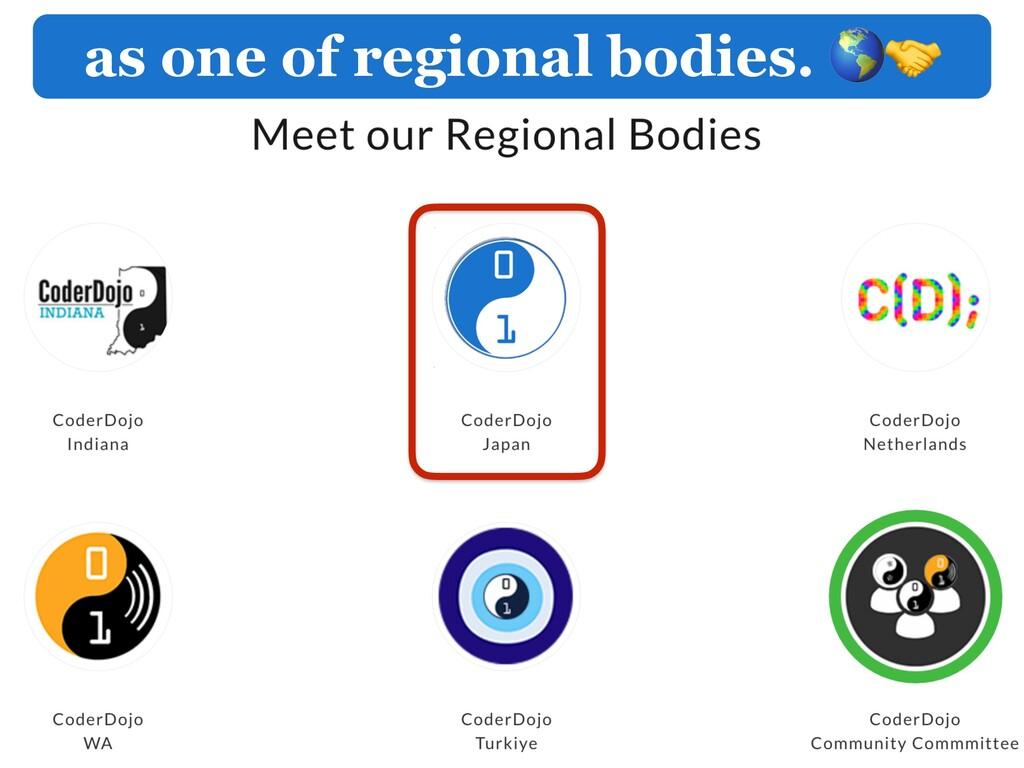 as one of regional bodies.