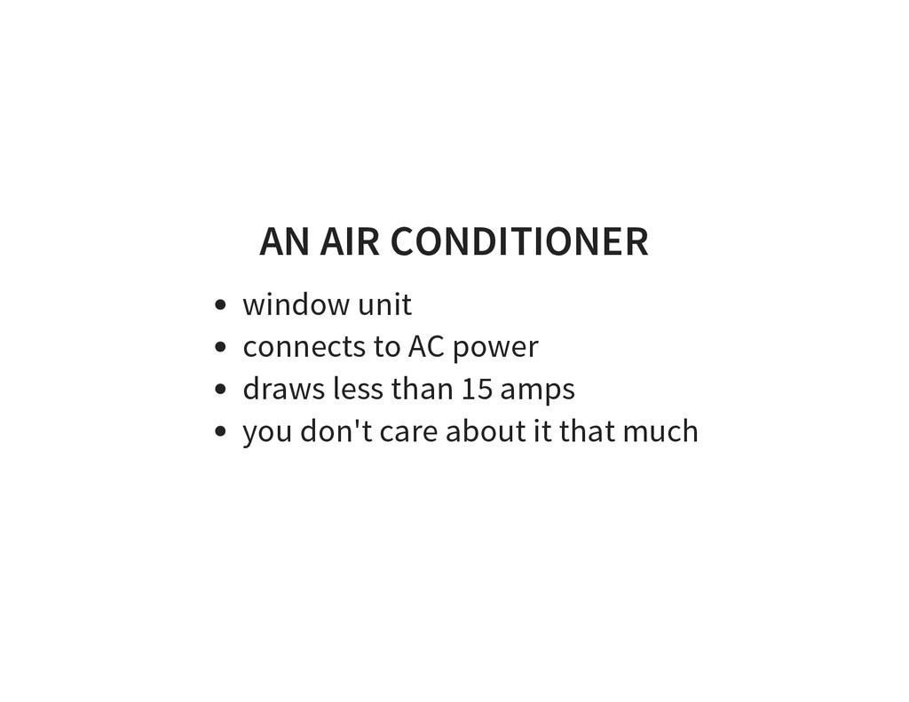 AN AIR CONDITIONER window unit connects to AC p...