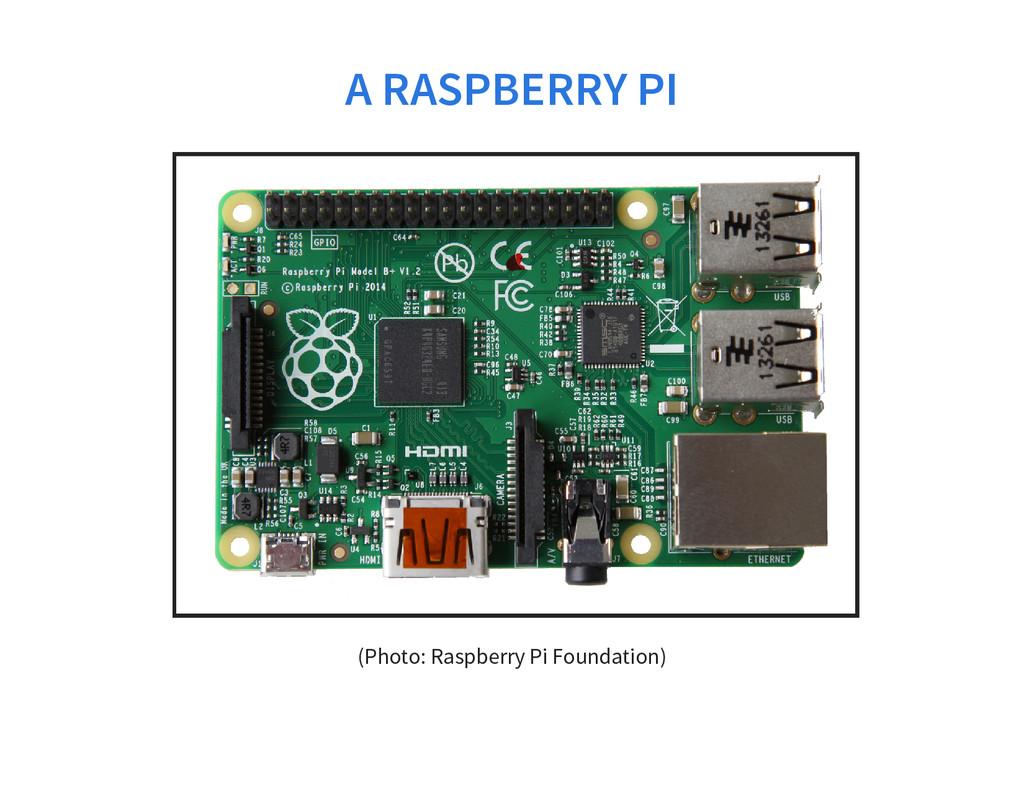A RASPBERRY PI (Photo: Raspberry Pi Foundation)