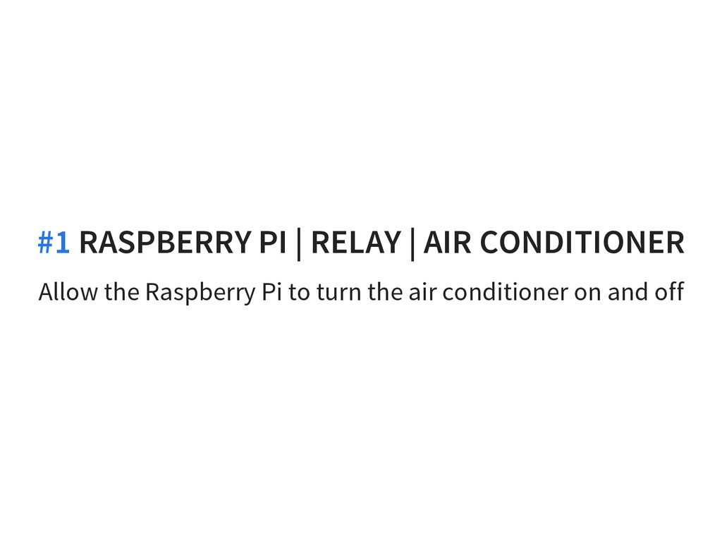 Allow the Raspberry Pi to turn the air conditio...
