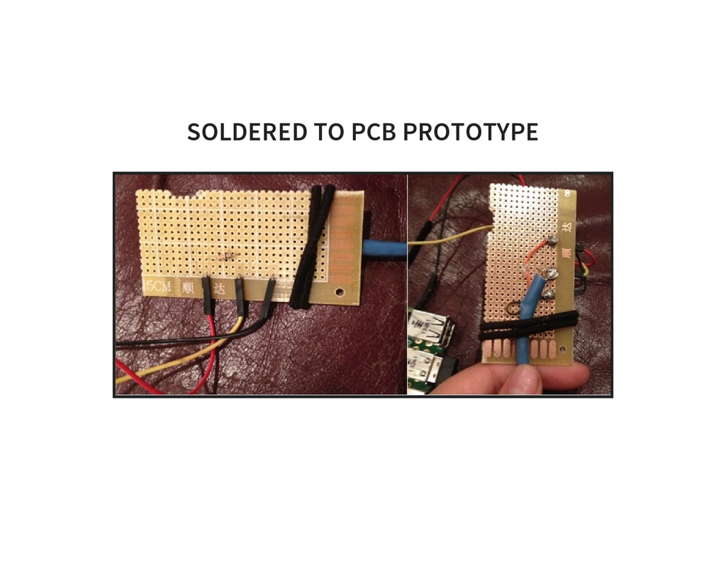 SOLDERED TO PCB PROTOTYPE