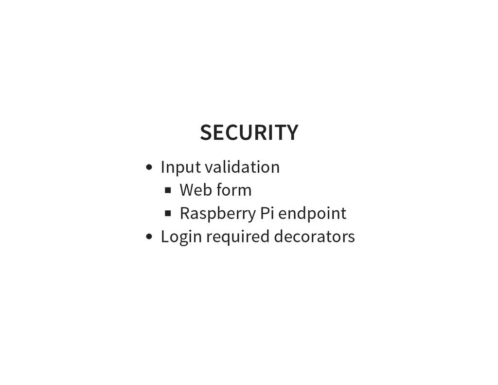 SECURITY Input validation Web form Raspberry Pi...
