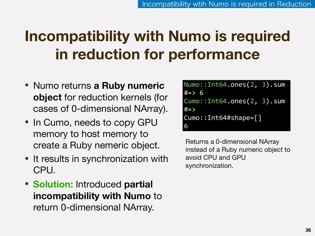 36 • Numo returns a Ruby numeric object for red...