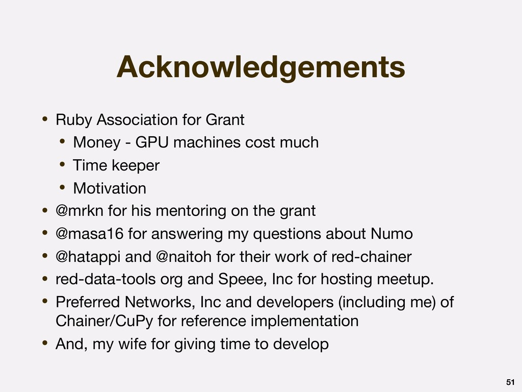 Acknowledgements • Ruby Association for Grant  ...