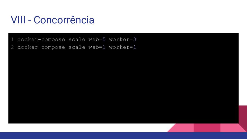 VIII - Concorrência 1 docker-compose scale web=...