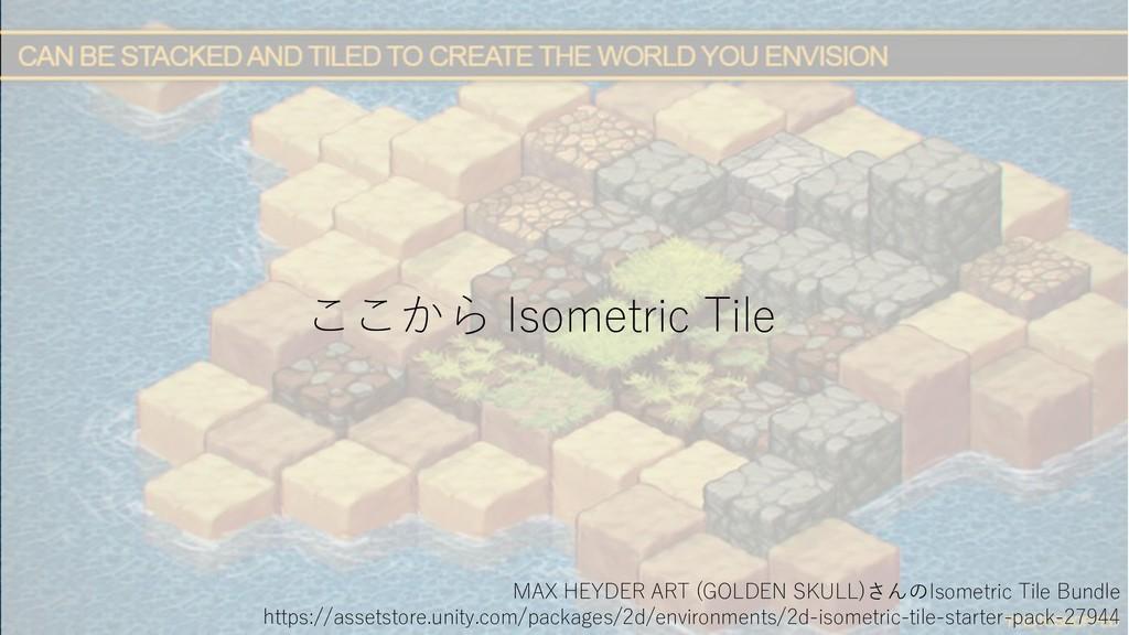 ここから Isometric Tile MAX HEYDER ART (GOLDEN SKUL...