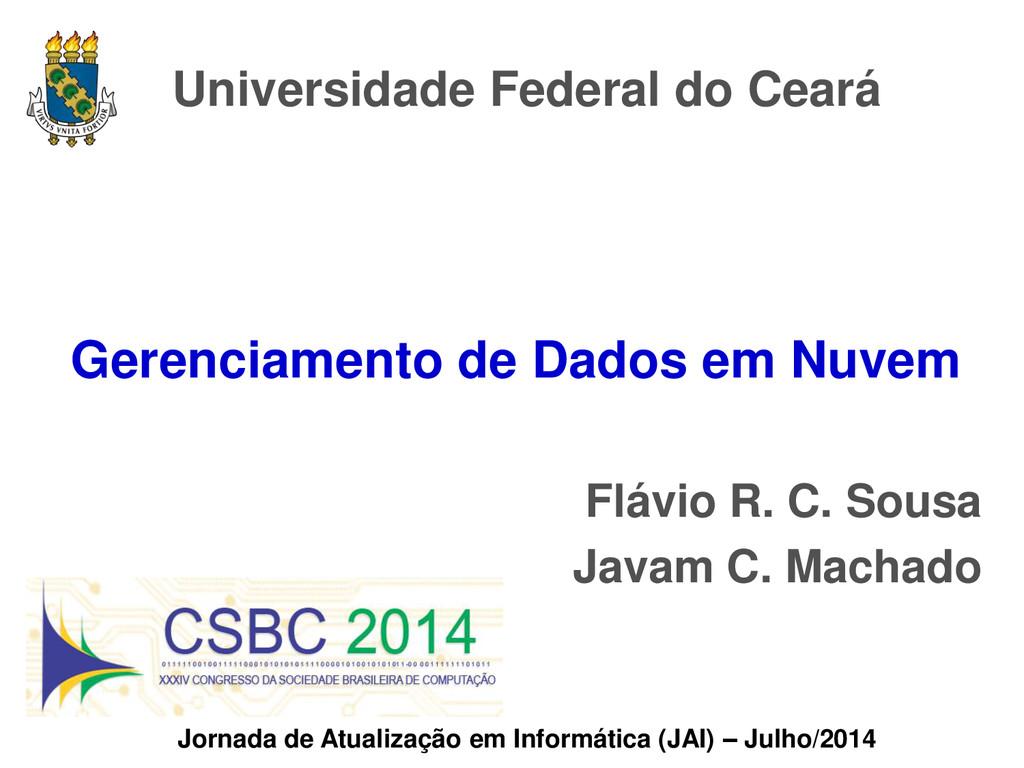 Universidade Federal do Ceará Jornada de Atuali...