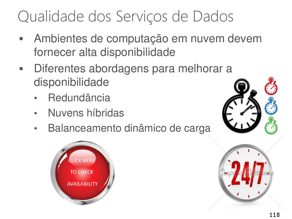 Qualidade dos Serviços de Dados  Ambientes de ...