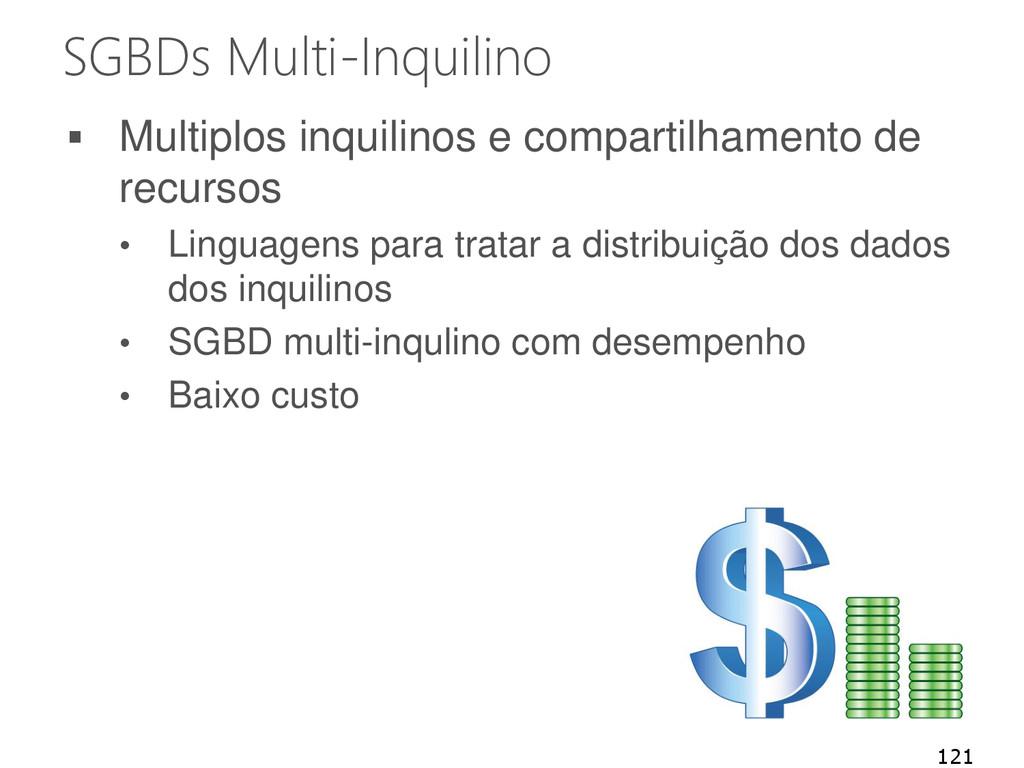 SGBDs Multi-Inquilino  Multiplos inquilinos e ...