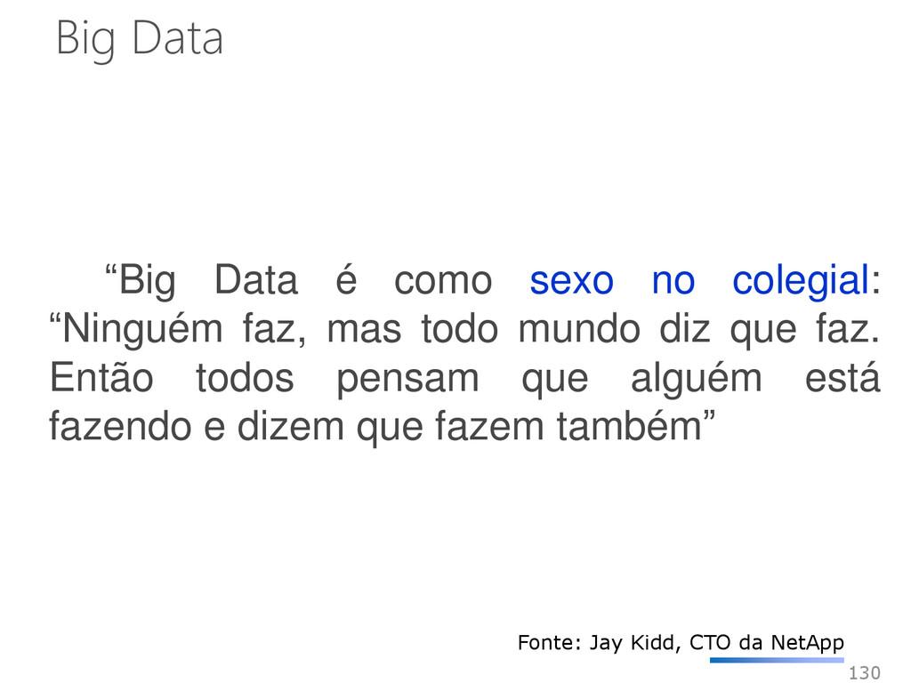 """130 """"Big Data é como sexo no colegial: """"Ninguém..."""