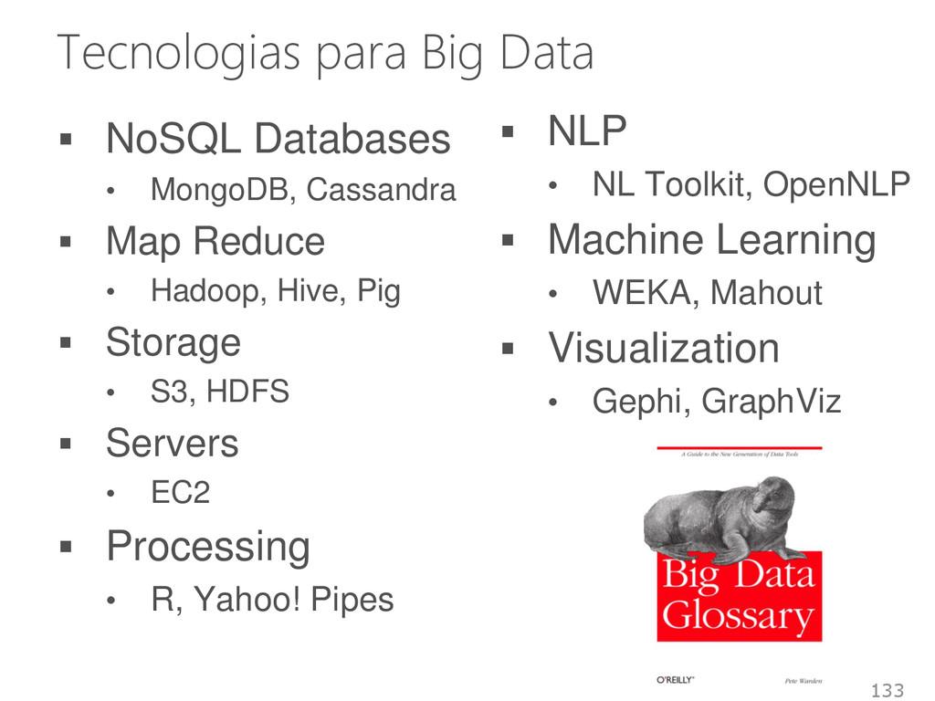 Tecnologias para Big Data  NoSQL Databases • M...
