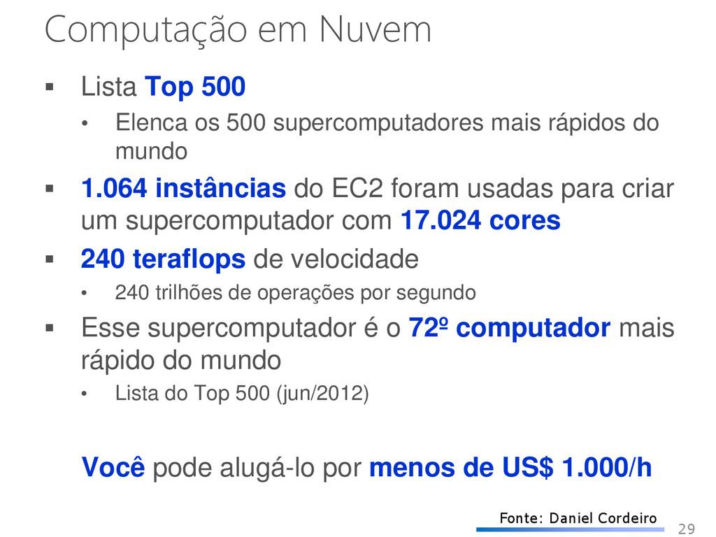 Computação em Nuvem  Lista Top 500 • Elenca os...