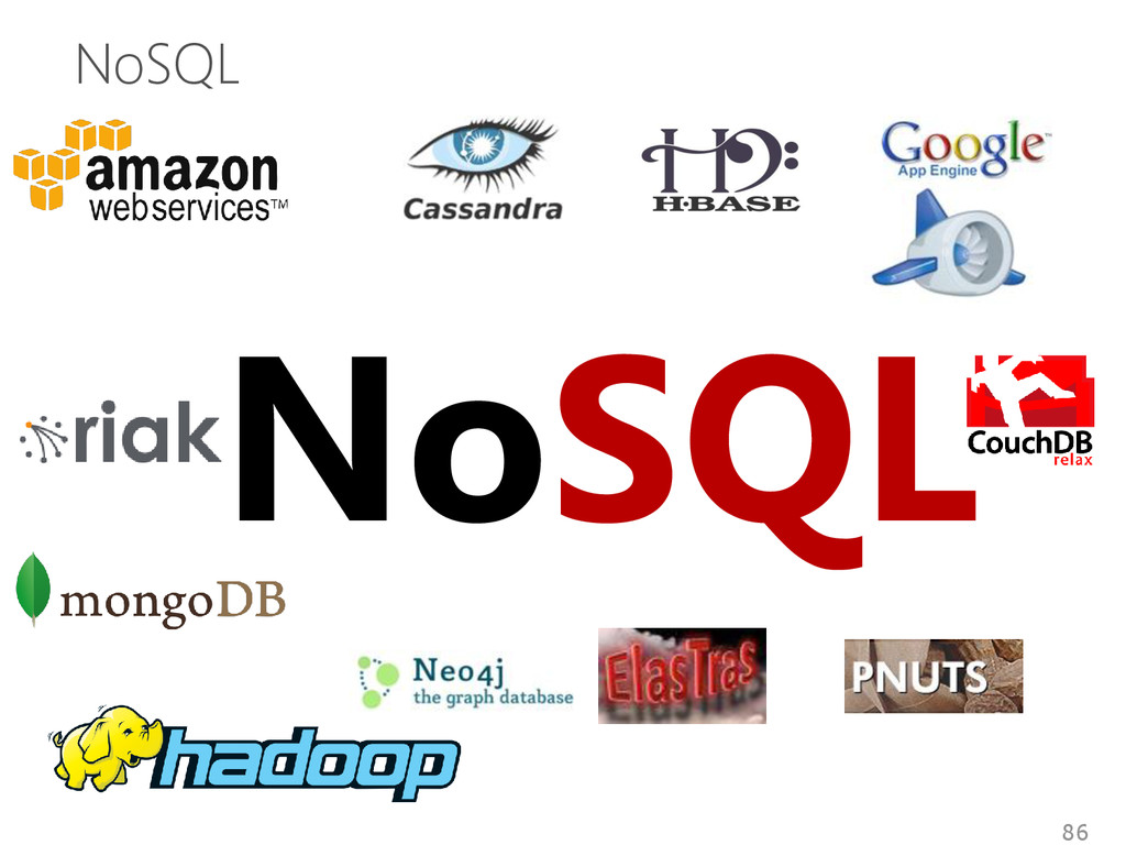 NoSQL 86 NoSQL