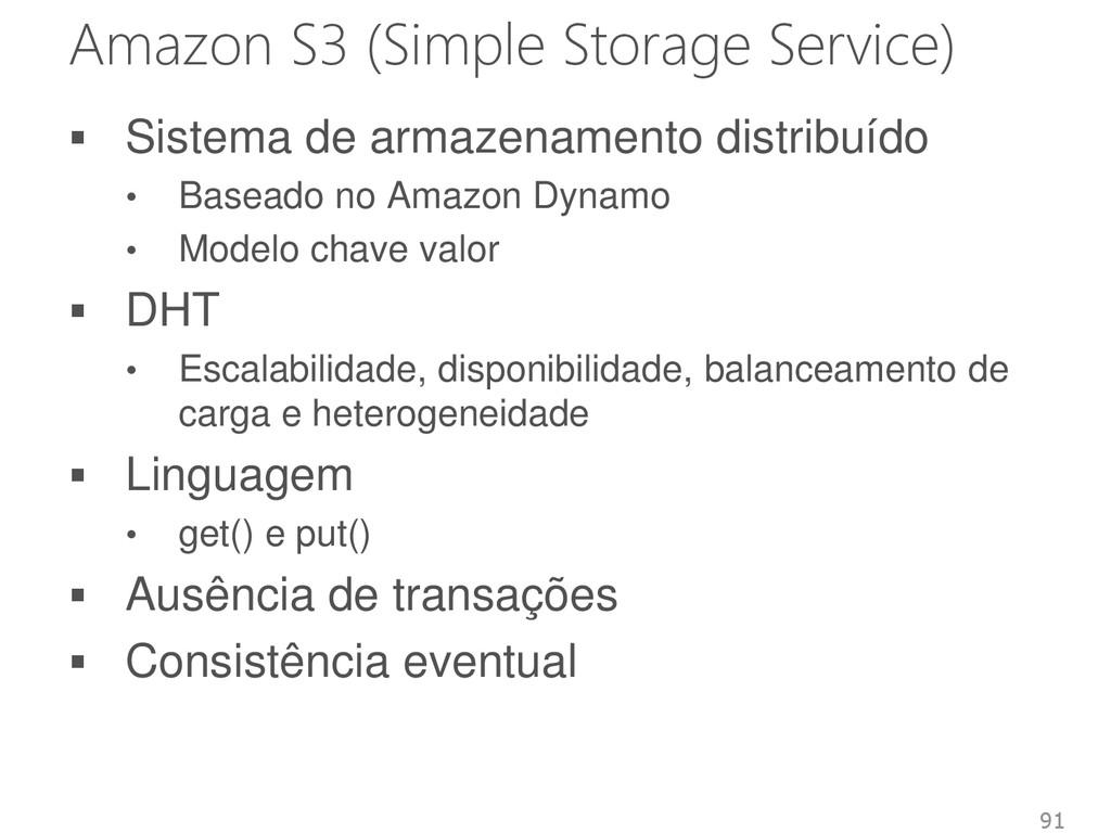 Amazon S3 (Simple Storage Service)  Sistema de...