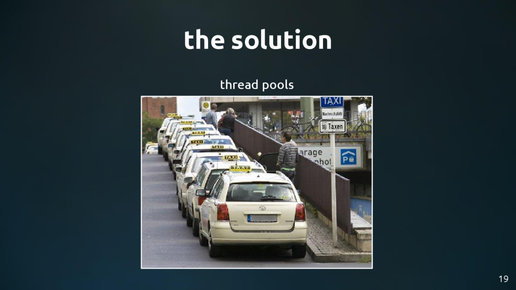 the solution 19 thread pools
