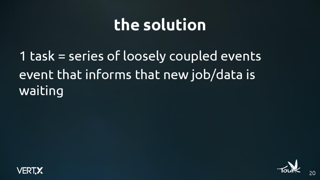 the solution 20 1 task = series of loosely coup...