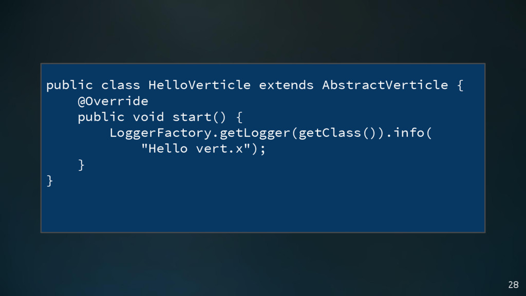 28 public class HelloVerticle extends AbstractV...