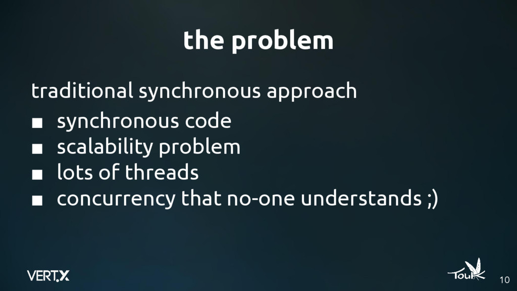 the problem traditional synchronous approach ■ ...