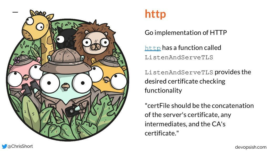 http Go implementation of HTTP http has a funct...