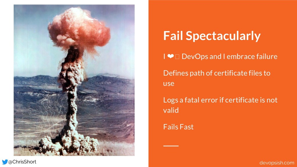 Fail Spectacularly I ❤ DevOps and I embrace fai...