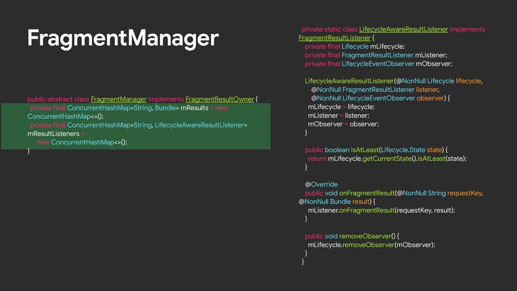 FragmentManager public abstract class FragmentM...
