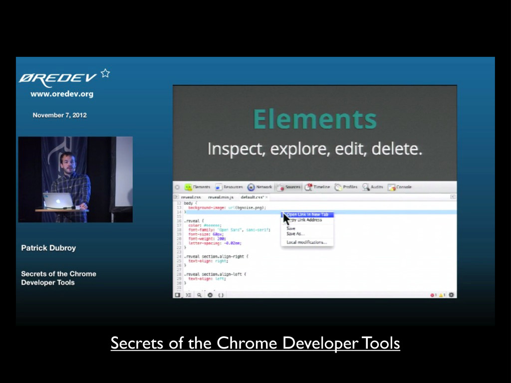 Secrets of the Chrome Developer Tools