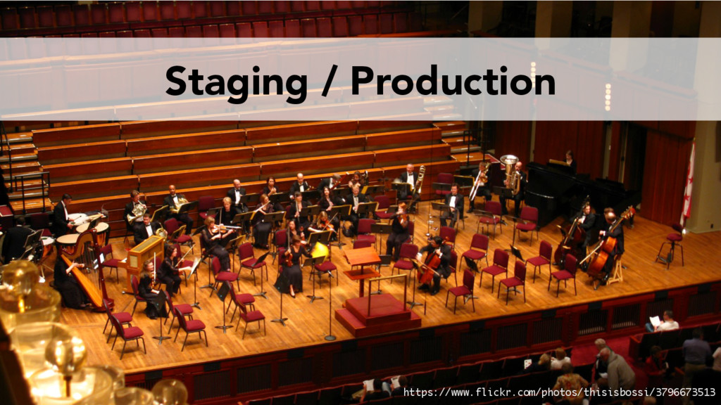 Staging / Production https://www.flickr.com/pho...
