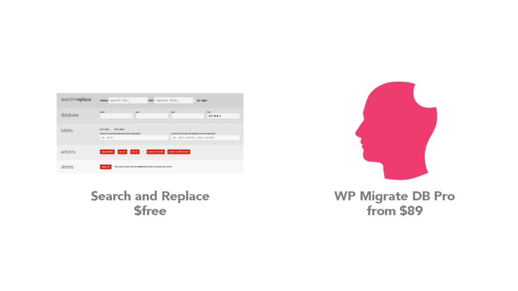 WP Migrate DB Pro from $89 Search and Replace $...