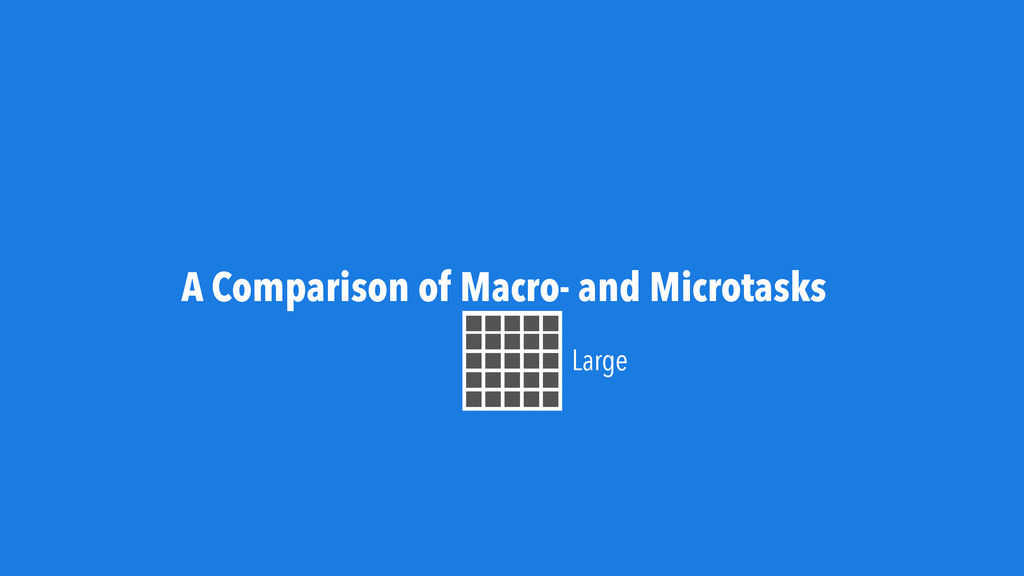 A Comparison of Macro- and Microtasks Large