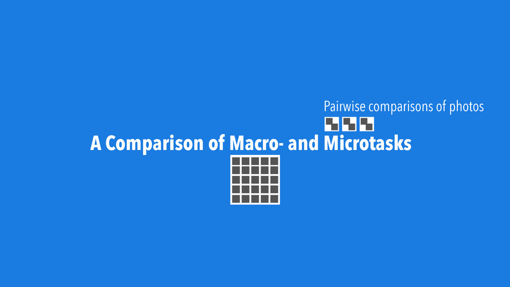 A Comparison of Macro- and Microtasks Pairwise ...
