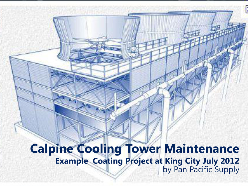Calpine Cooling Tower Maintenance Example Coati...