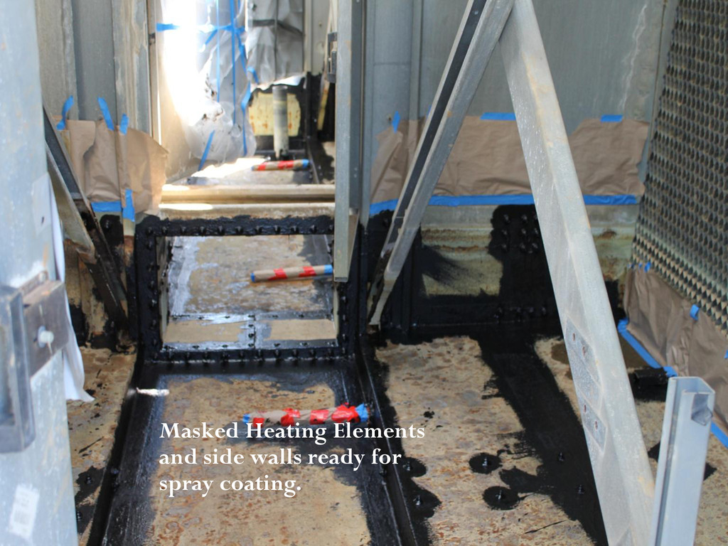 Masked Heating Elements and side walls ready fo...