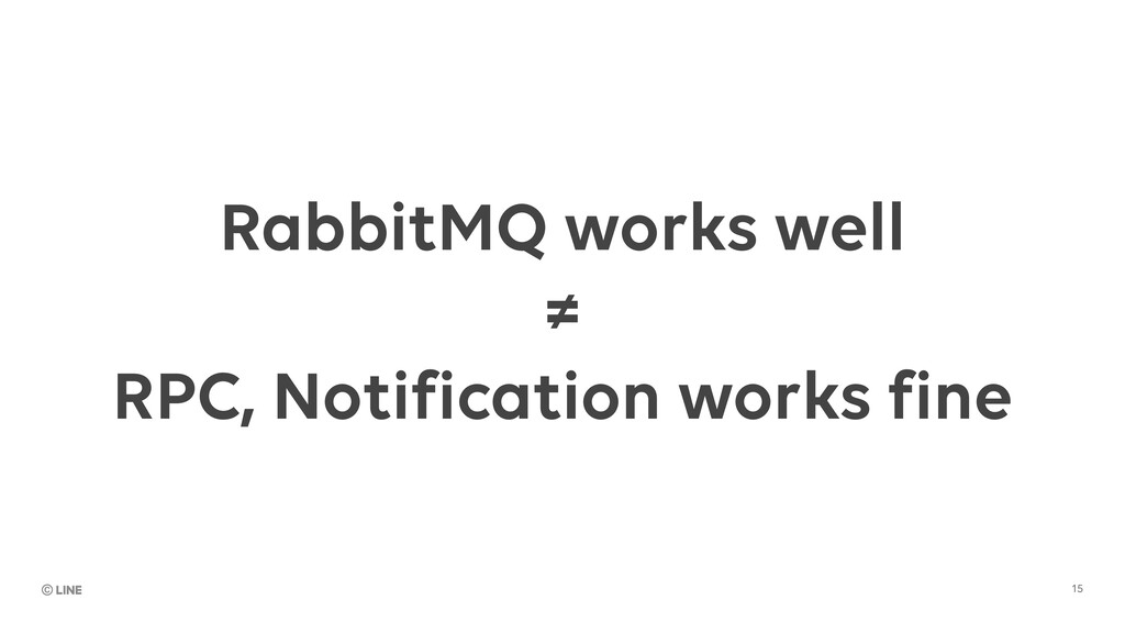 RabbitMQ works well ≠ RPC, Notification works f...