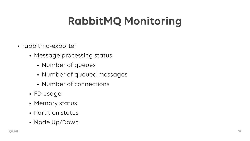 18 RabbitMQ Monitoring • rabbitmq-exporter • Me...