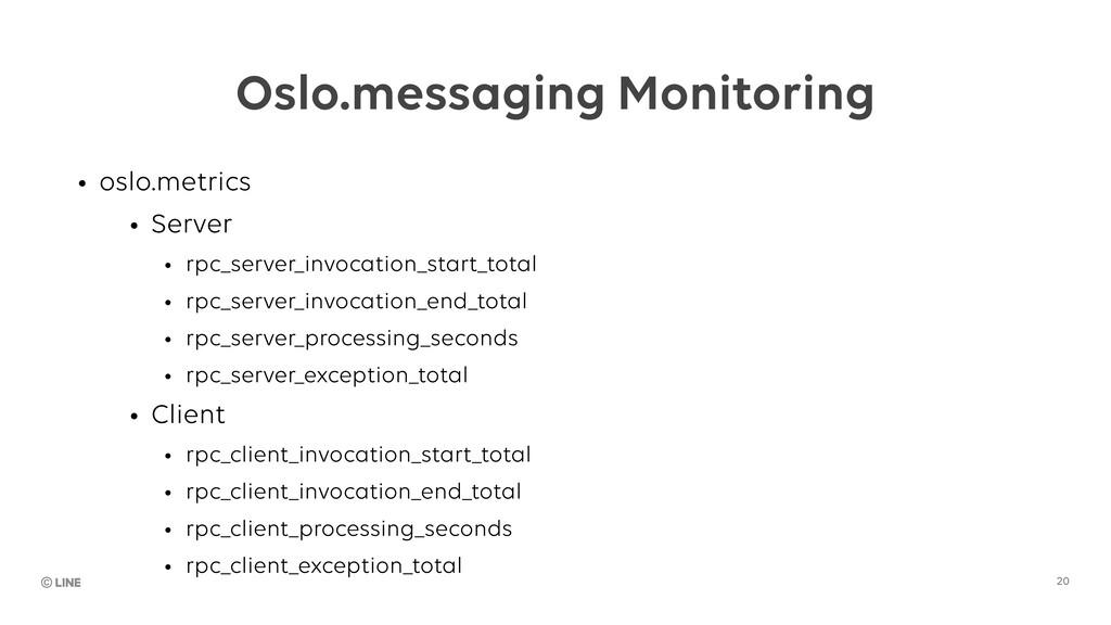 20 Oslo.messaging Monitoring • oslo.metrics • S...