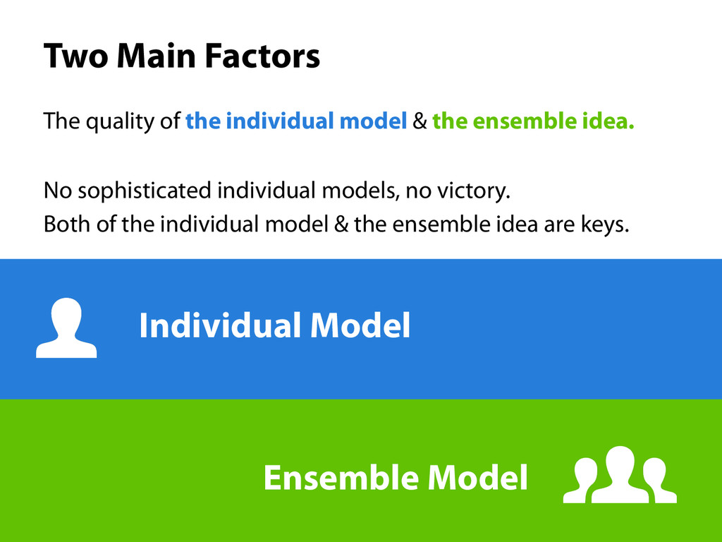 Two Main Factors The quality of the individual...
